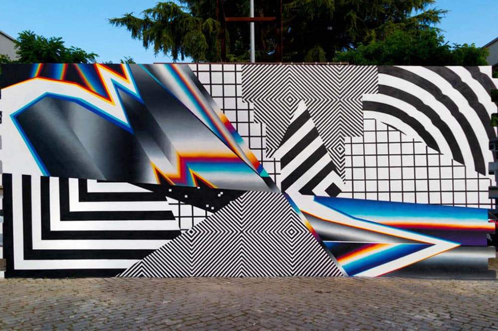 Street-art par Felipe Pantone