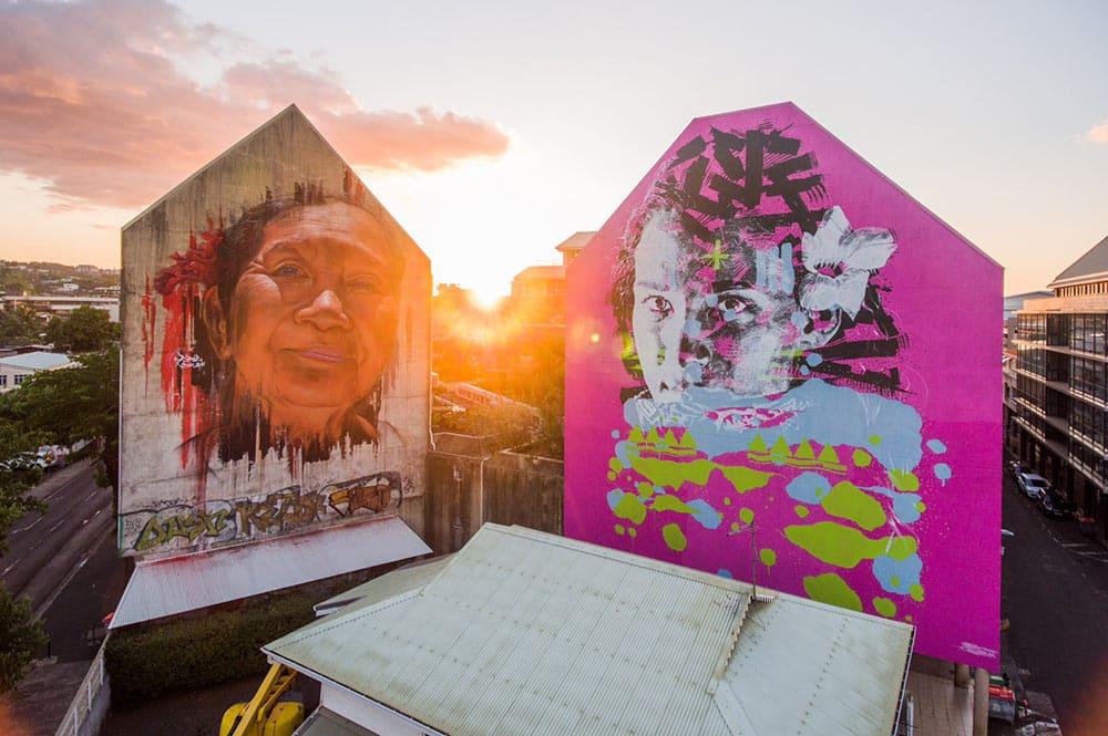 Street-art, L'indien à Papeete