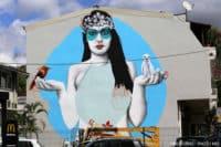 Street art, la vahine de Findac, à Papeete