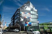 Street Art, géometrie de Felipe Pantone à Papeete