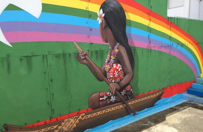 Street Art, Te Anuanua Aito de Kalouf au centre Vaima, Papeete