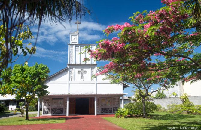 Eglise Saint-André d'Uturoa, Raiatea © Tahiti Heritage 2017