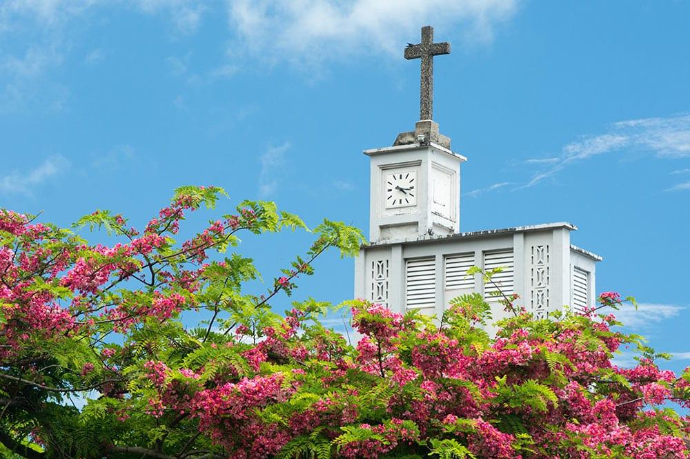 Clocher de l'église Saint-André d'Uturoa, Raiatea