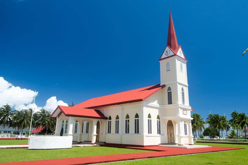 Temple protestant de Uturoa, Raiatea