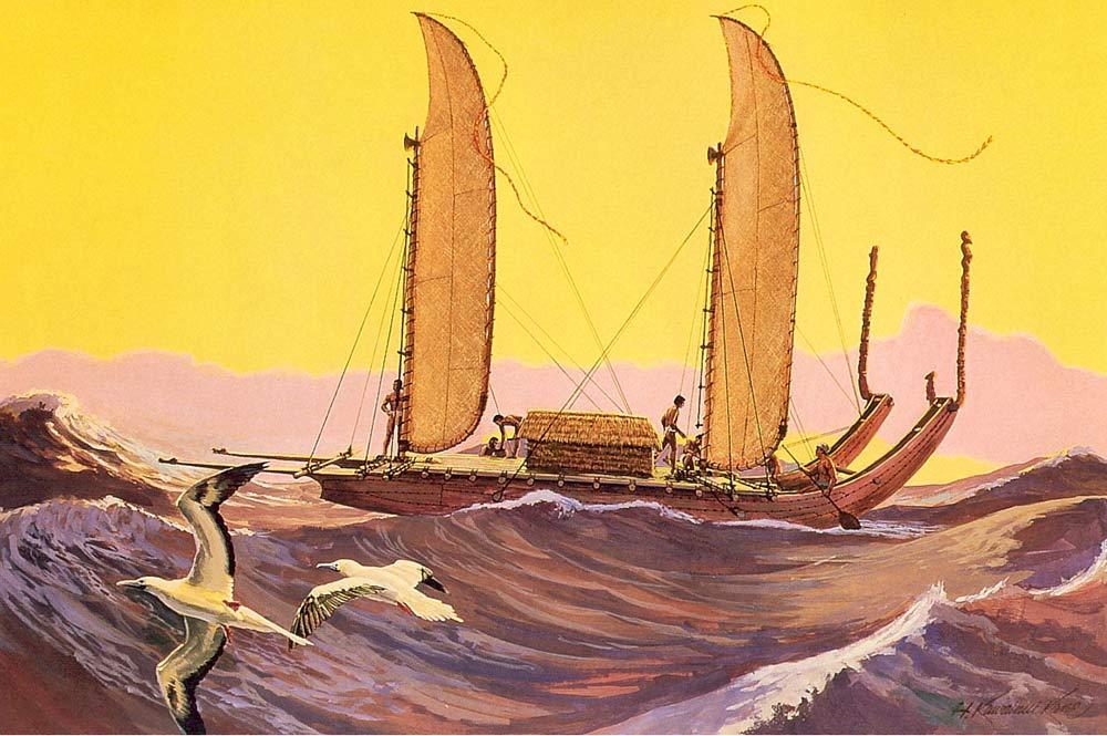 Polynesian pirogue Herb Kane