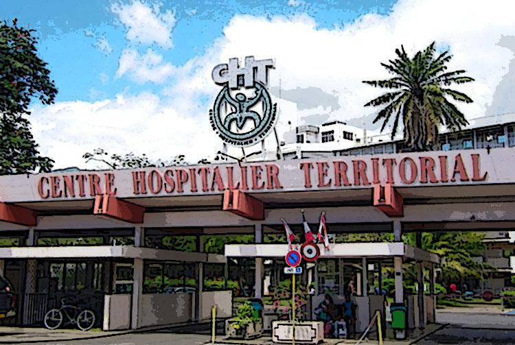 Entrée de l'ancien hôpital de Mamao, Papeete