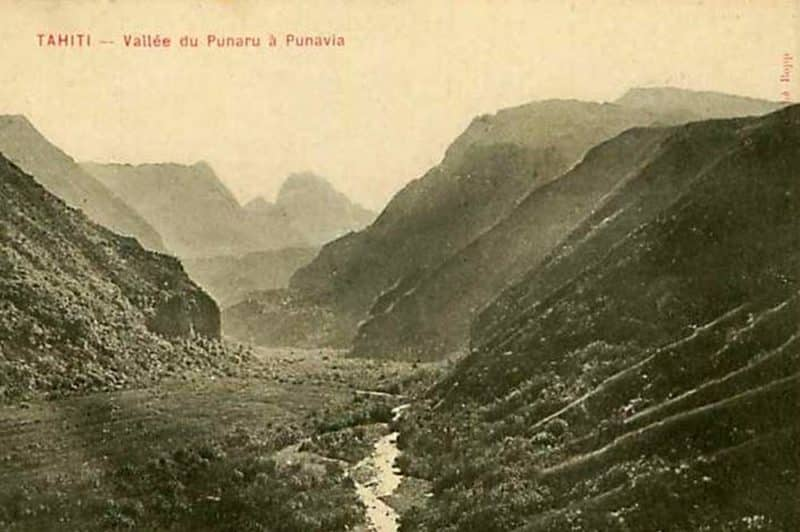 Vallée de Punaruu à Punaauia vers 1915. Photo Bobb