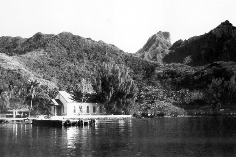 Temple d'Afareitu à Moorea en 1967