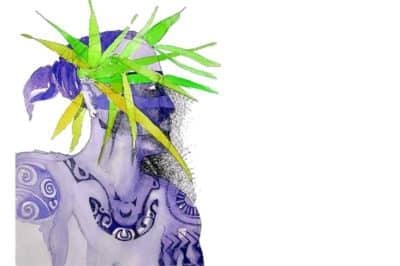 Hiro, héros légendaire polynésien. Dessin Stéphane Cazenave