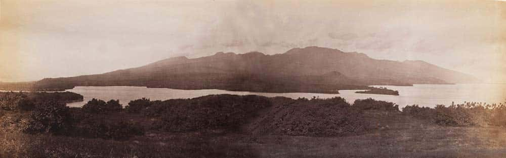 L'isthme de Taravao en 1887. Photo Reminiscences of Tahiti-1887