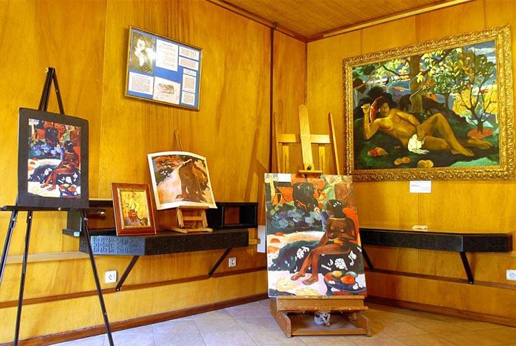 L'intérieur du musée Gauguin
