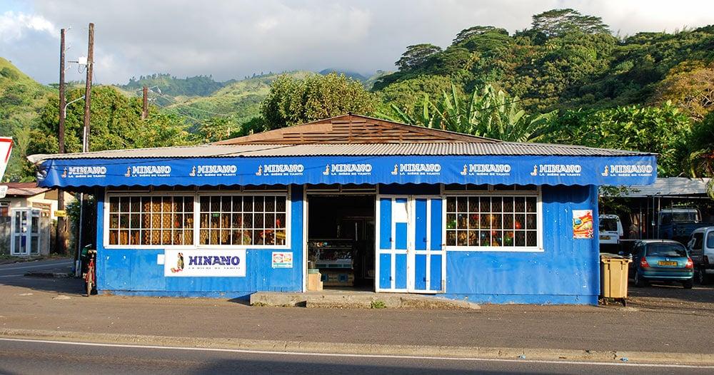 magasin bleu d'Arue