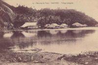 Le village de Vaiea à Maupiti vers 1910