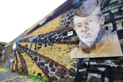 Fresque du bataillon du pacifique, à Papeete 2019