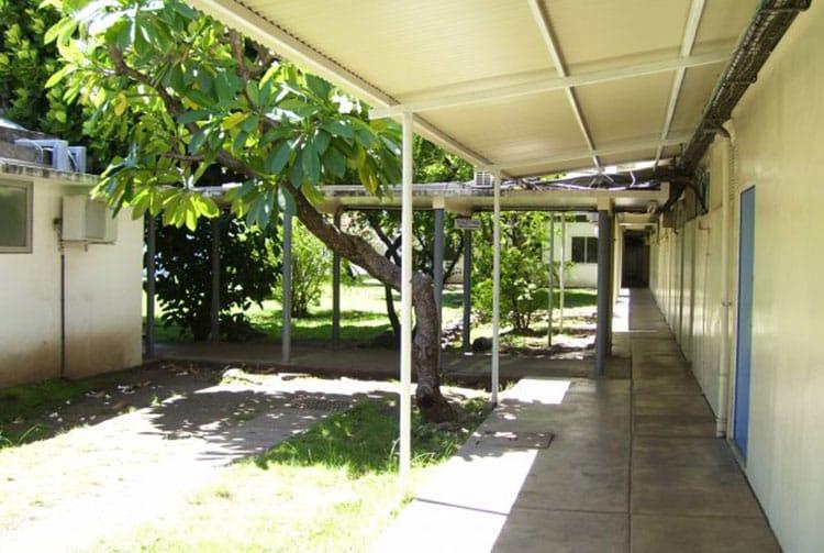 Ancien Hôpital de Mamao à Papeete, le patio