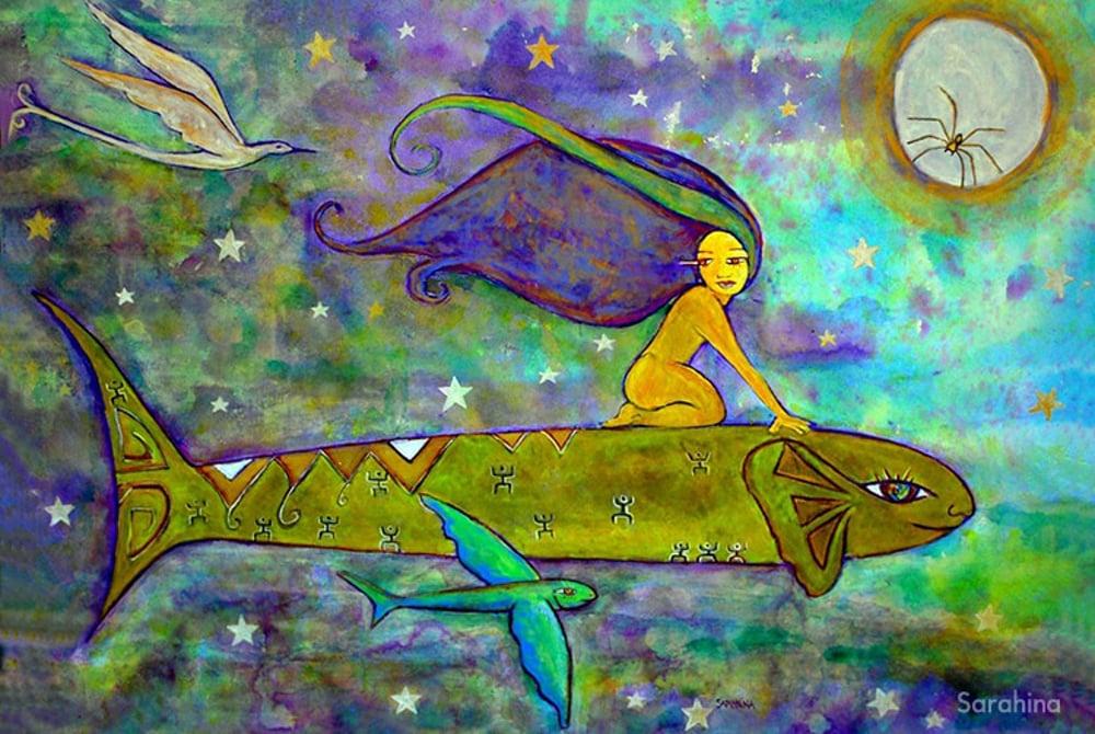 Légende de Terehe, dîte de Tahiti Nui, illustrée par Sarahina