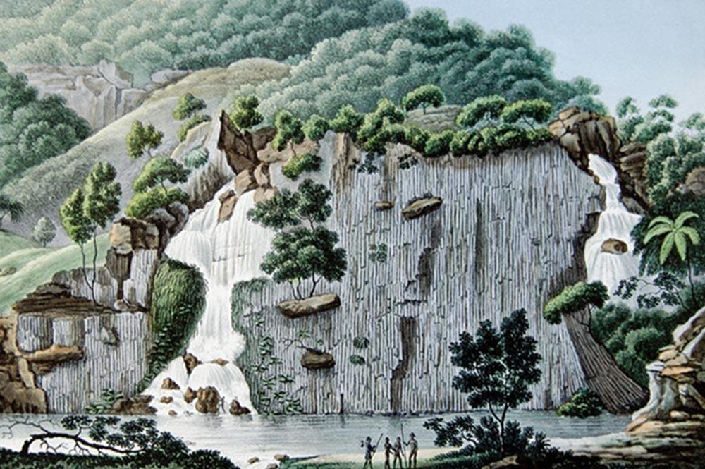 Rocher de Basalte. Voyage de Duperrey