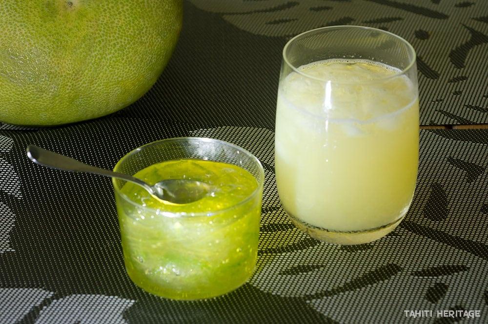 Marmelade et jus de pamplemousse vert de Tahiti © Tahiti Heritage