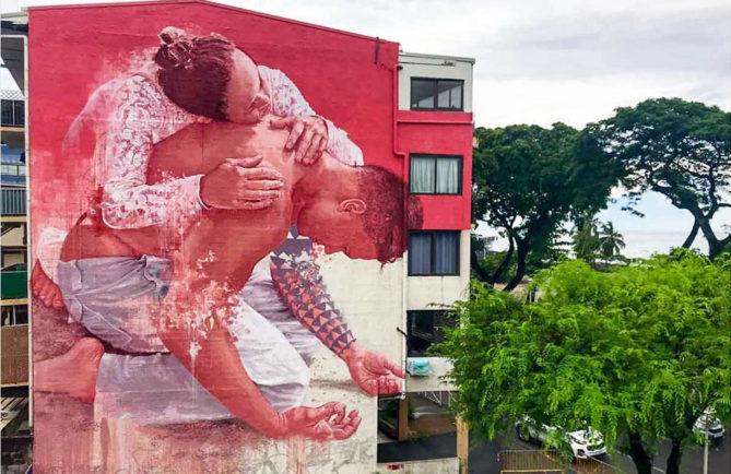 Force de la mémoire, par Fintan Magee à Papeete