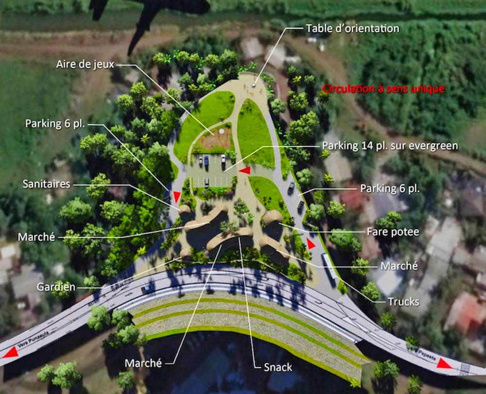 Projet d'aménagement de la pointe Hotuarea de Faa'a. TNAD 2018