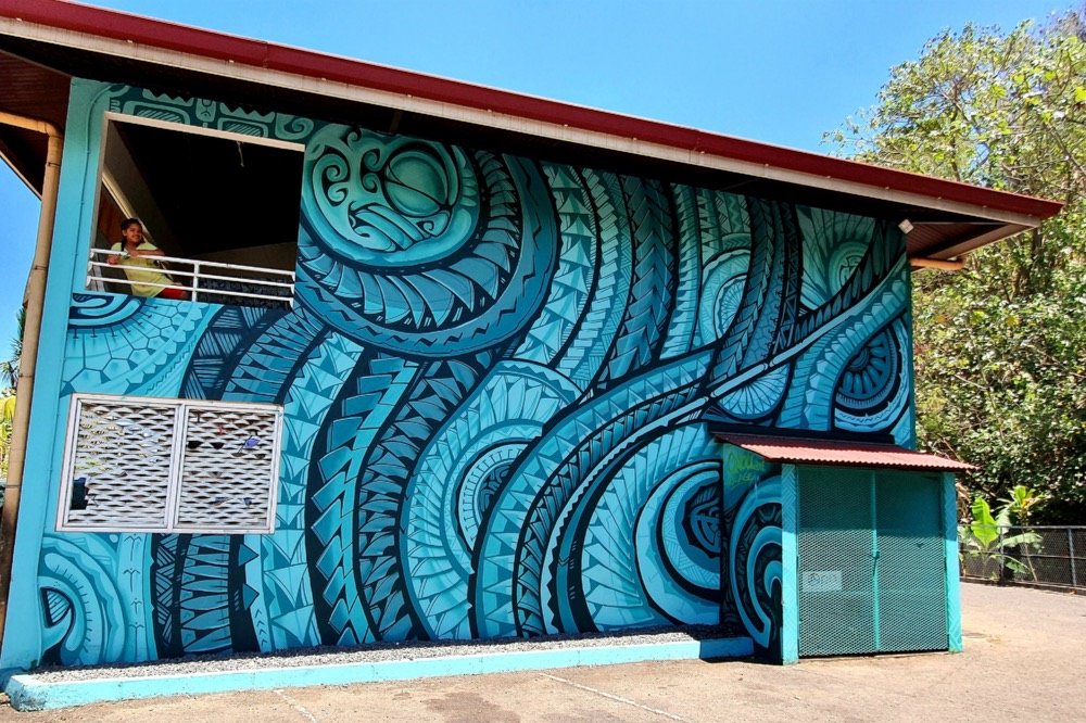 Street-Art, fresque de ravage à Heiri, Faa'a